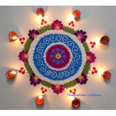 CREATIVE RANGOLI FOR KARTHIGAI DEEPAM