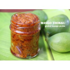 MANGO THOKKU RECIPE/GRATED MANGO PICKLE RECIPE/आम का अचार