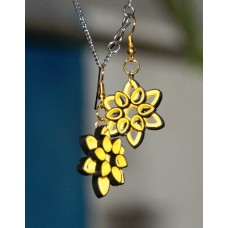 QUILLING EARRINGS(YELLOW & BLACK)