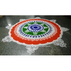 PATRIOTIC RANGOLI | REPUBLIC DAY RAGOLI | INDEPENDENCE DAY RANGOLI