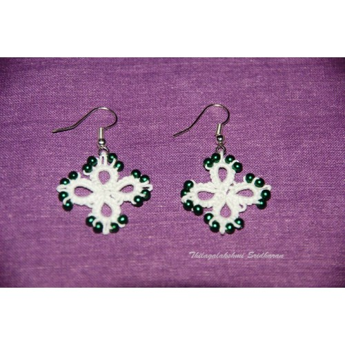 TATTED EARRINGS-WHITE