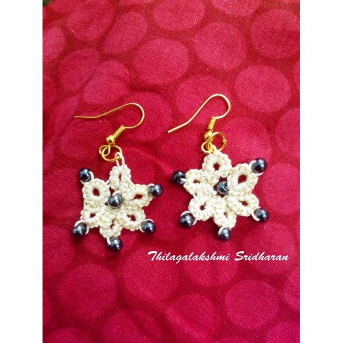 TATTED EARRINGS - CREAM COLOUR 2